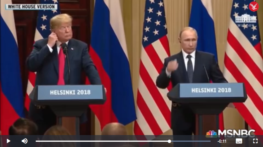 Blockchain - WH video Putin Helsinki